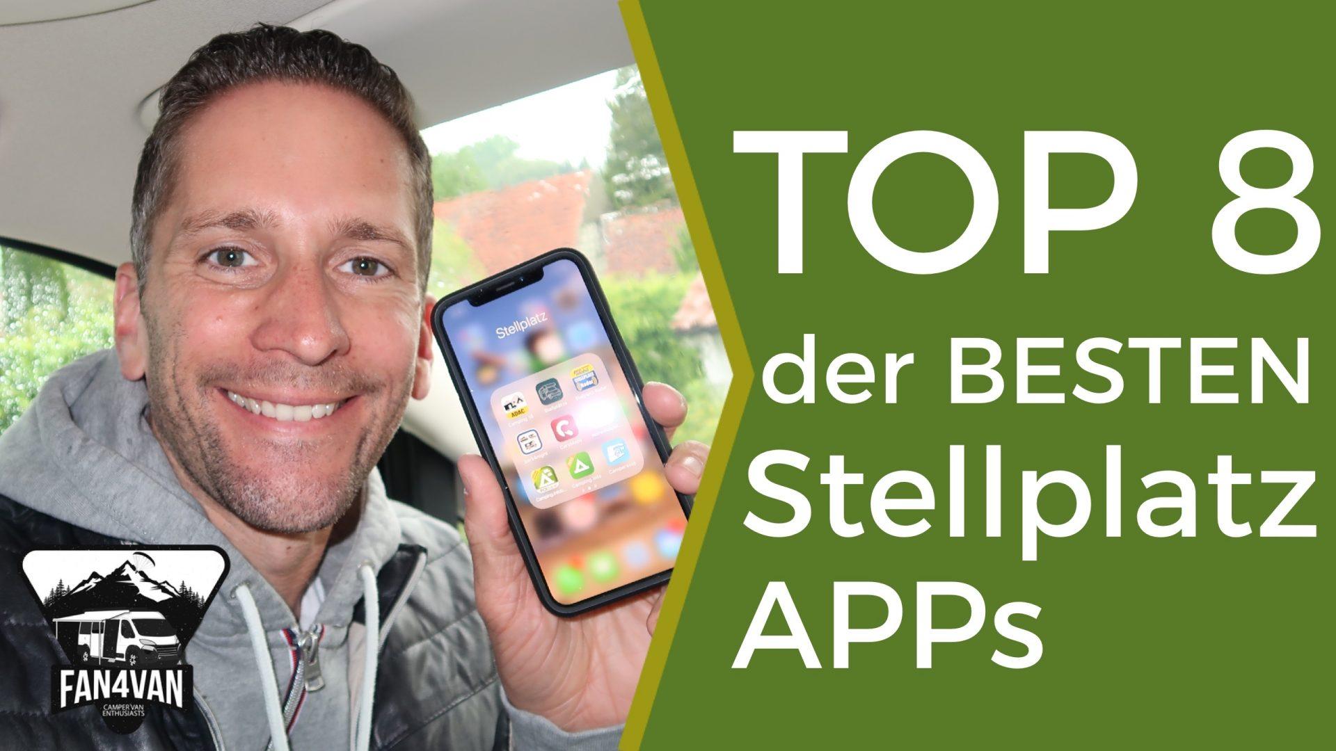 Zusammenfassung der Top 8 der BESTEN Stellplatz App s für Wohnmobile
