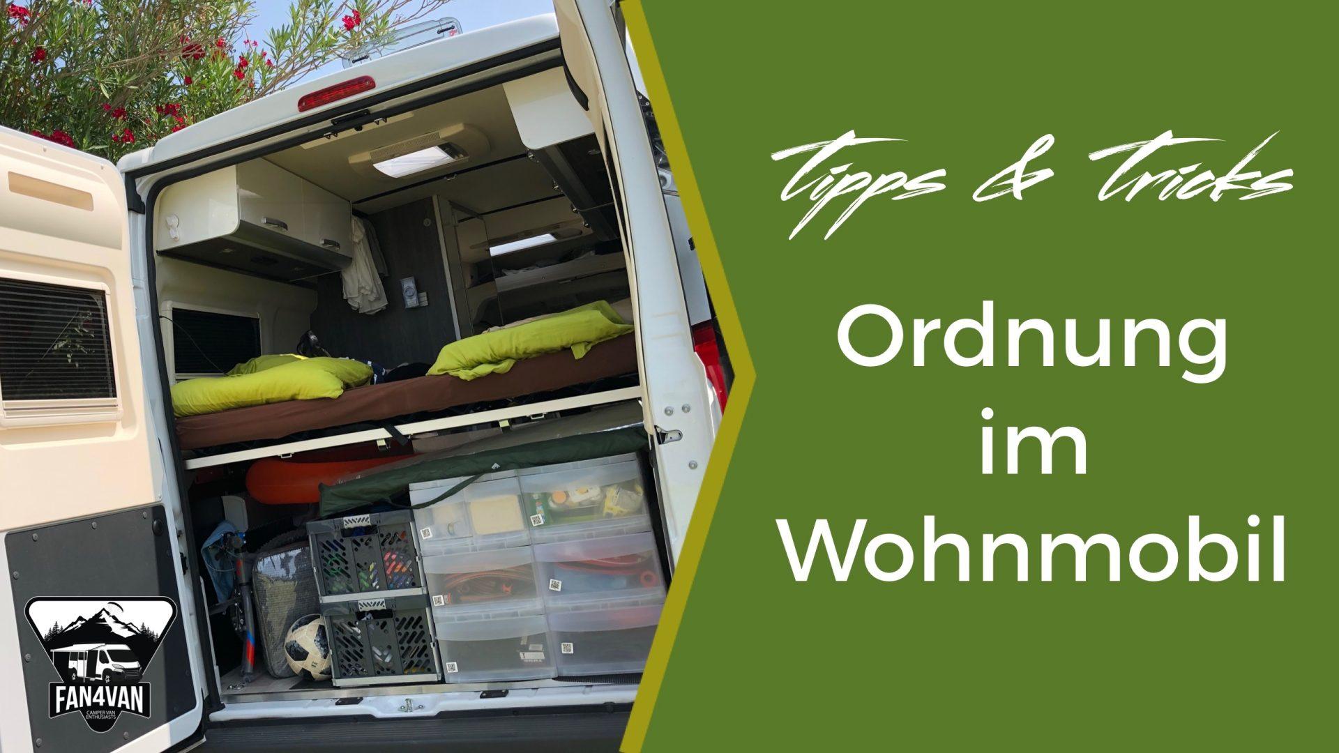 Ein ordentliches Schubladensystem im Wohnmobil sorgt für Ordnung