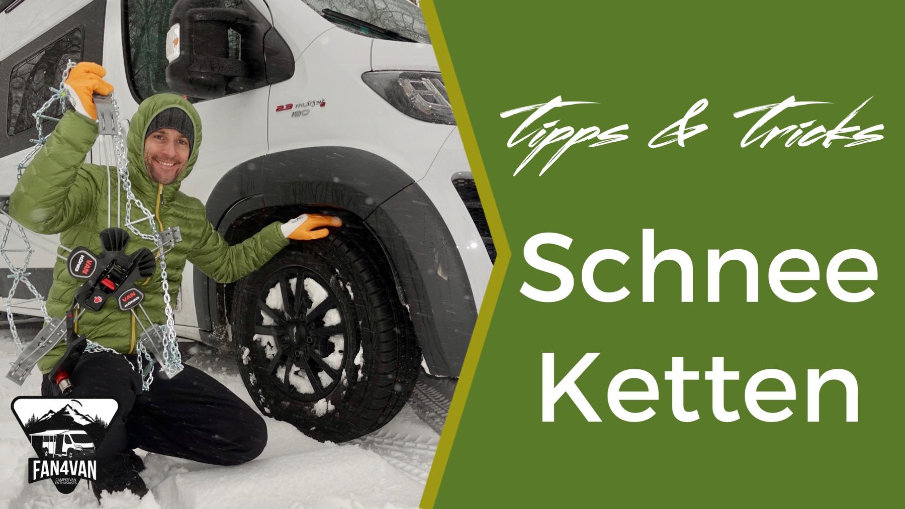 Schneeketten für Wohnmobil - 9 Tipps für den Kauf!