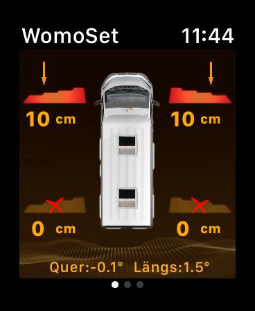die wohnmobil app womoset ausrichten des womo. Black Bedroom Furniture Sets. Home Design Ideas