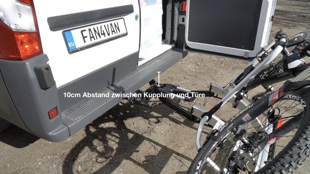 Fahrradträger Abstand