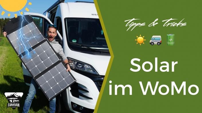 Wohnmobil Solaranlage oder Solarkoffer