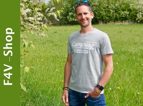 fan4van - camping checker T-Shirt